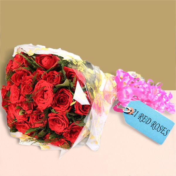Buy True Love Red Roses Bunch