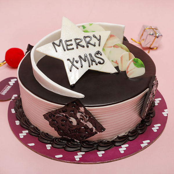 Buy Chocolate Cream Xmas Cake