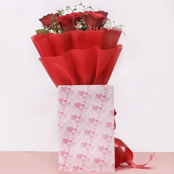 Buy Roses with Greeting