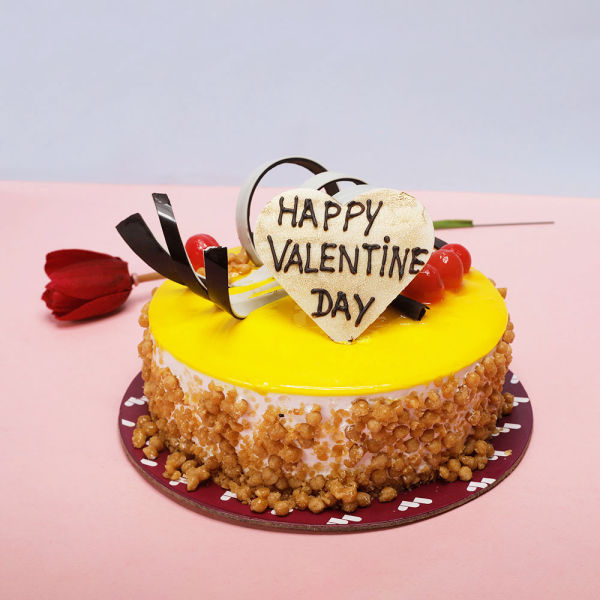 Buy Butterscotch Valentine Cake