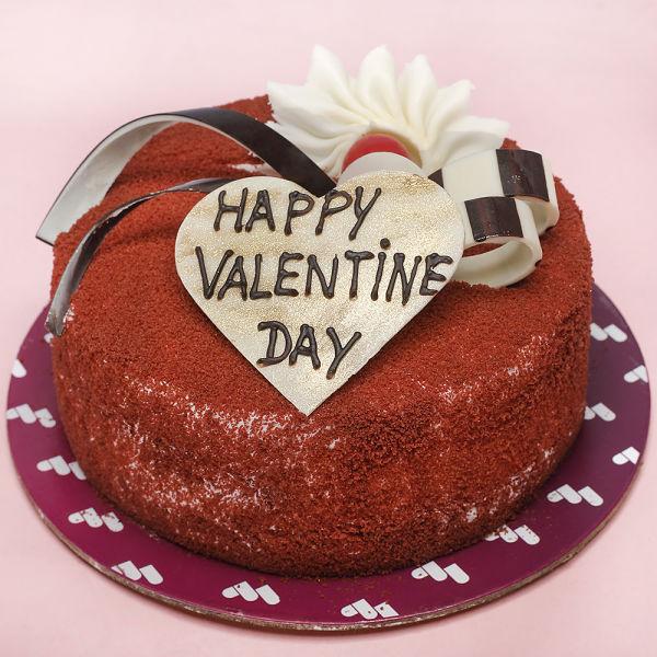 Buy Red Velvet Valentine cake