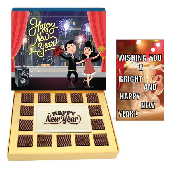 Buy Happy New Year White Chocolates Bar