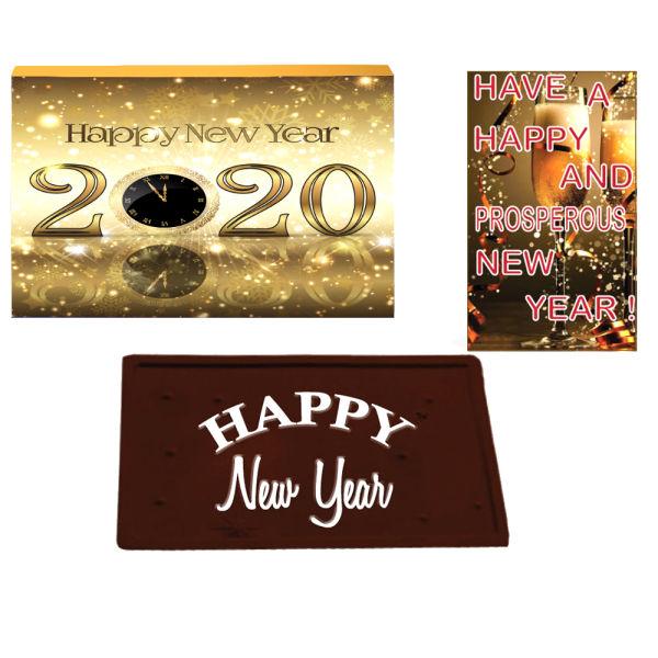 Buy Happy New Year Dark Chocolate Bar