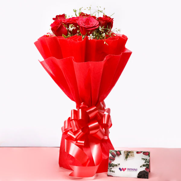 10 Red Roses: online flower delivery