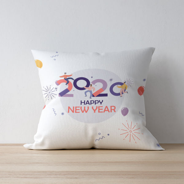 Buy Personalised Happy New Year Wishes Cushion