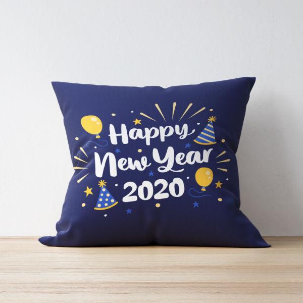 Buy Happy New Year Printed Cushion