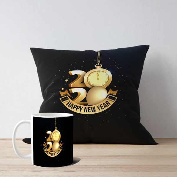 Buy Best New Year Mug & Cushion