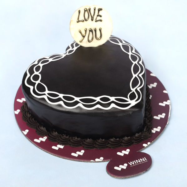 Buy Love U Heart Shape Chocolate Cake