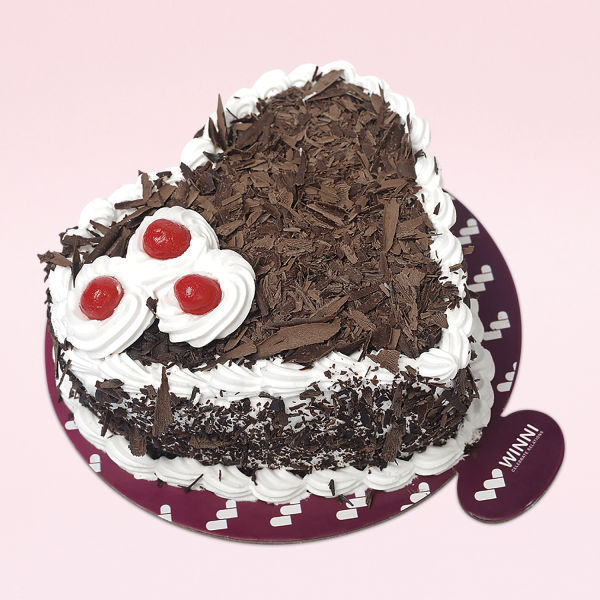 Buy Loving Black Forest Heart Shape Cake