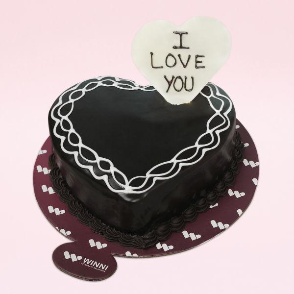 Buy I Love You Heart Shape Chocolate Cake