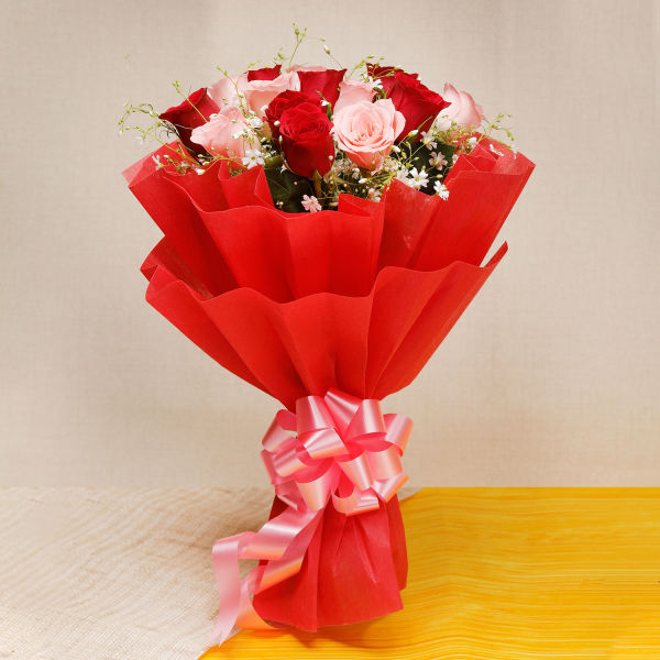 Memorable Moments A bouquet of  Multicolored Roses: flowers online