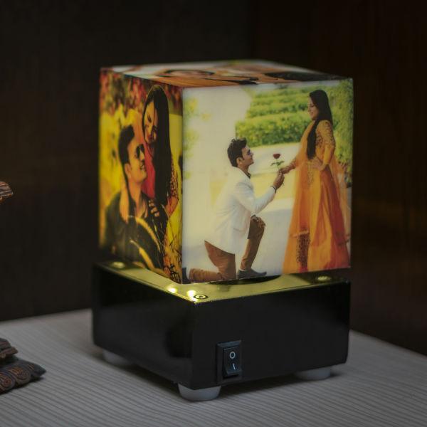 Buy Nostalgia Cube Rotating Lamp