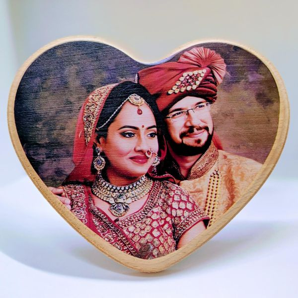 Buy Wooden Plaque Heart Shape Small