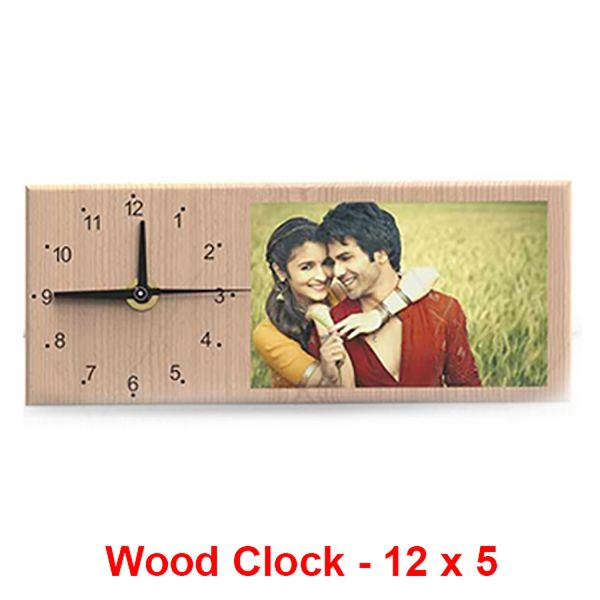 Buy Wooden Frame With Clock 12X5 In