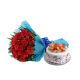 Buy Red Roses N Fruity Treat