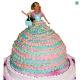 Buy Barbie Doll Eggless Cake