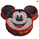 Buy Mickey Mouse Shape Eggless Cake