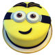 Buy Minion Smiling Fondant shape  cake