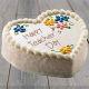 Buy Vanilla Heart Shape Cake for Teacher