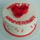 Buy Happy Anniversary Fondant Cake