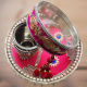 Buy Pink Karwa Chauth Decorated Thali