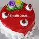 Buy Strawberry Diwali Cake