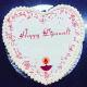 Buy Vanilla Heart Shape Diwali Cake
