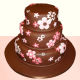 Buy Flowery Chocolate cake