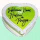 Buy Kiwi heart shape cake