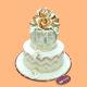 Buy Golden Rose Wedding Cake
