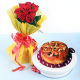 Buy Plum Cakes With Roses