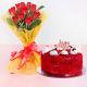 Buy 10 Red Roses With Red Velvet Cake