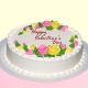 Buy Flowery  Vanilla Cake
