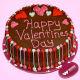 Buy Pretty valentines chocolate cake