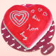 Buy Red velvet valentine heart shape cake