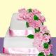 Buy Pink floral Wedding cake
