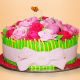 Buy Vanilla Flavor Rose Cake