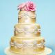 Buy Golden 3 Tier Wedding Cake