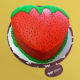 Buy Strawberry Shape Cake