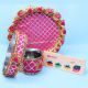 Buy Pink Floral Steel Thali & Choco Combo