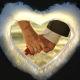 Buy LED White Heart Cushion