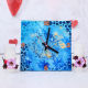 Buy Pink flower pillar candle with Blue Sky Clock
