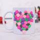 Buy Colourfull 3d heart flower mug