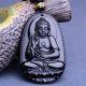 Buy Natural Black Stone Buddha unisex Pendant