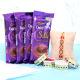 Buy Bro Rakhi With 4 Dairy Milk Chocolates