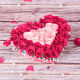 Buy HeartShaped Pink and Red Roses