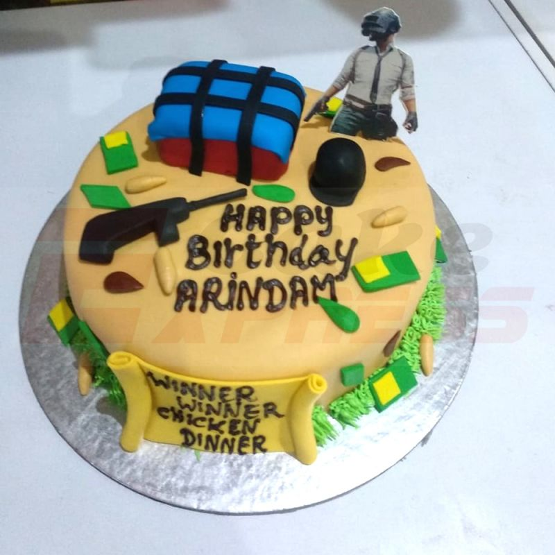 Happy Birthday Pubg Cake Winni In